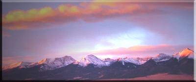 Sangres Sunrise, Westcliffe, Colorado, Home of The Writer's Personal Coach